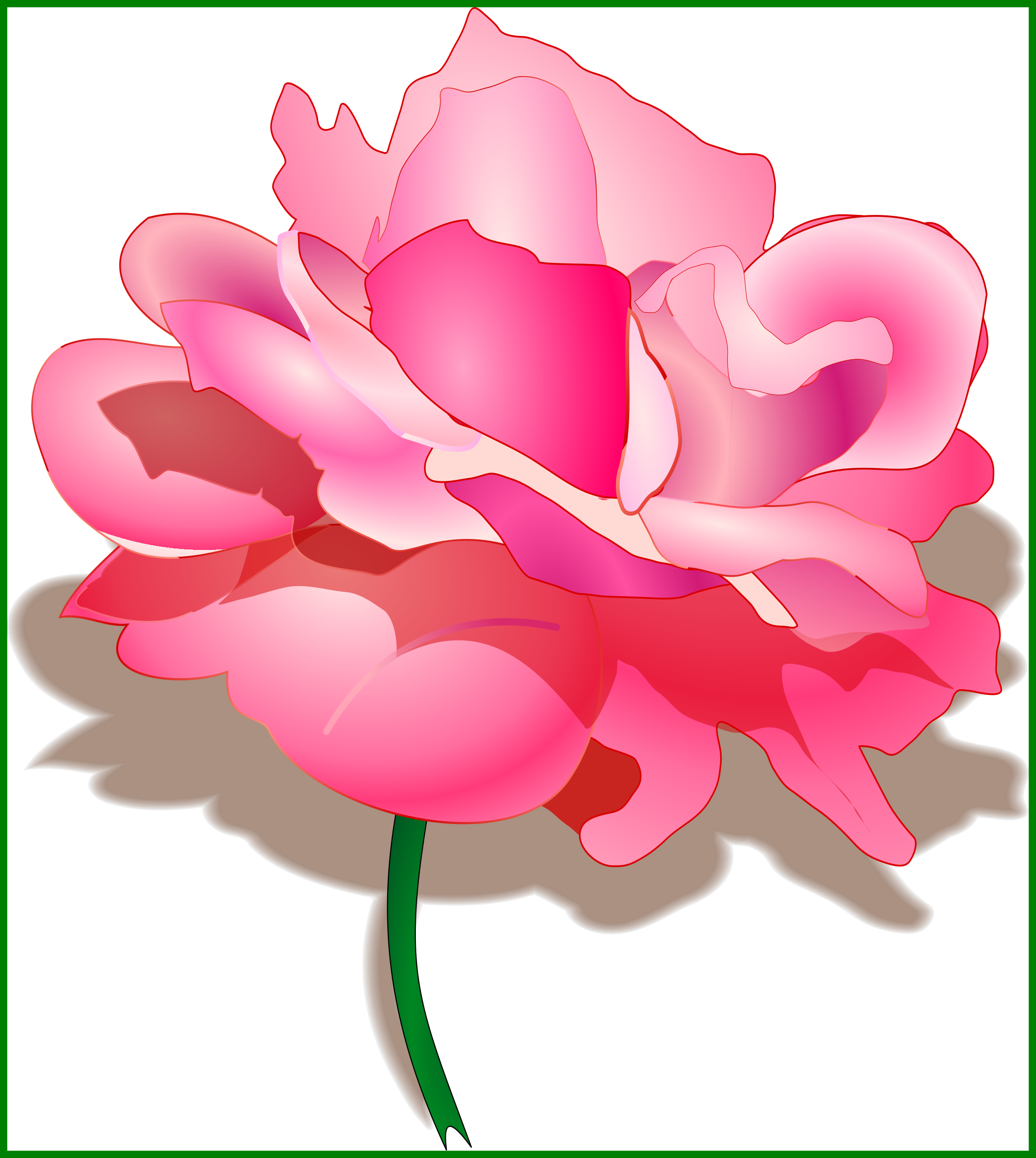 Peony flower clipart vector transparent library The Best Watercolor Peonies Clipart Now Available Pretty High Res Of ... vector transparent library