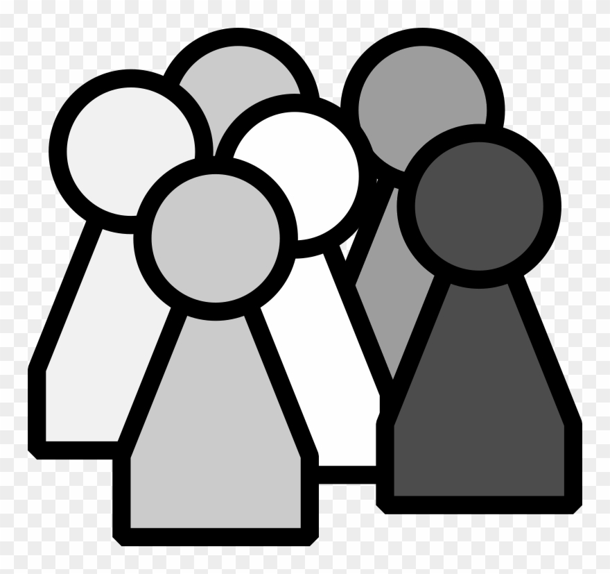 People and places clipart black and white clipart royalty free library Derzeit - People Clipart Black And White - Png Download ... clipart royalty free library