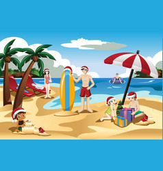 People at the beach clipart jpg royalty free library Beach Clipart Vector Images (over 2,100) jpg royalty free library