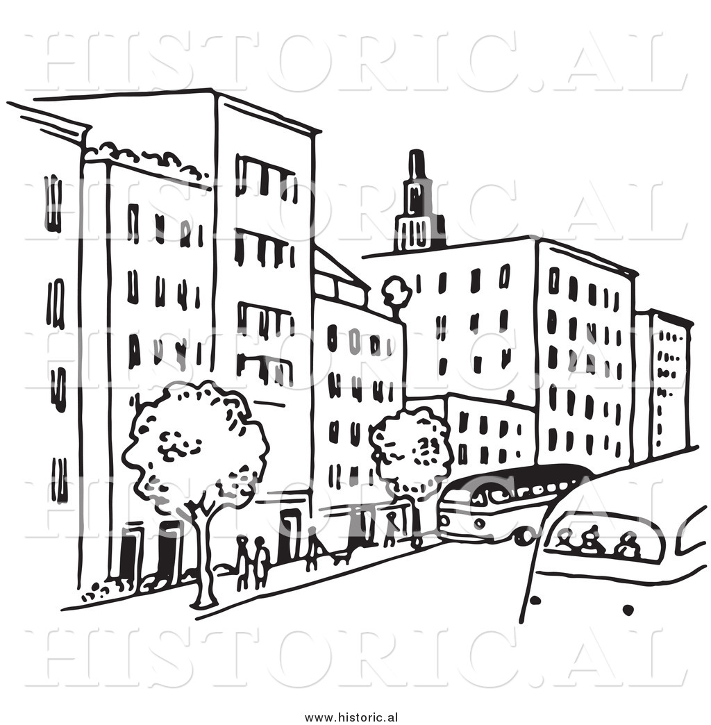 People blackline clipart png transparent library Town Black And White Clipart - Clipart Kid png transparent library