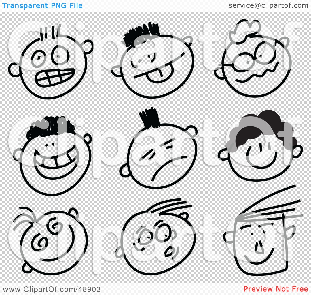 People blackline clipart freeuse library Royalty-Free (RF) Clipart Illustration of a Digital Collage Of ... freeuse library