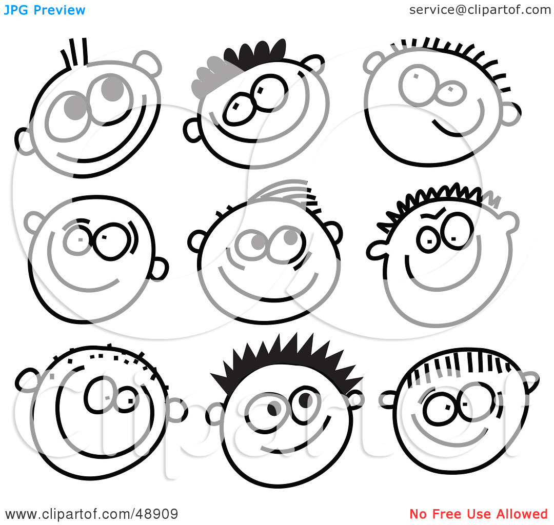 People blackline clipart banner freeuse Royalty-Free (RF) Clipart Illustration of a Digital Collage Of ... banner freeuse