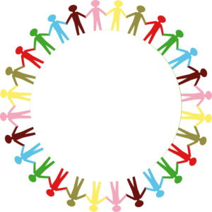 People border clipart svg free download Circle Holding Hands Stick People Multi Coloured Clip Art at Clker ... svg free download