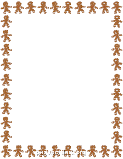 People border clipart vector royalty free stock Gingerbread Man Border Clipart - Clipart Kid vector royalty free stock