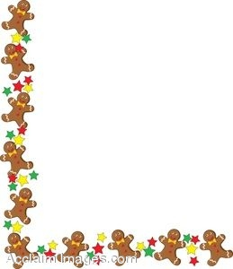 People border clipart image stock Clip Art of a Gingerbread Man Page Border image stock