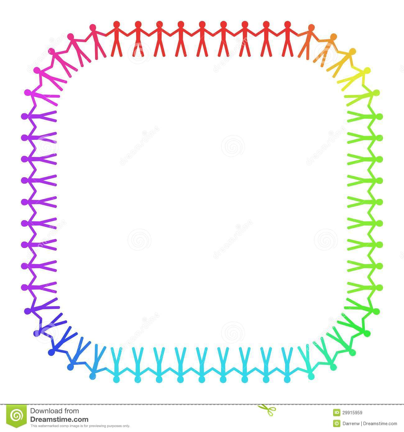 People border clipart clipart library stock Rounded People Frame Royalty Free Stock Images - Image: 29915959 clipart library stock