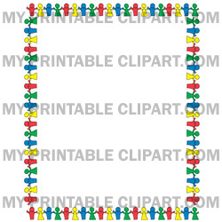 People border clipart clip free stock People clipart border - ClipartFest clip free stock