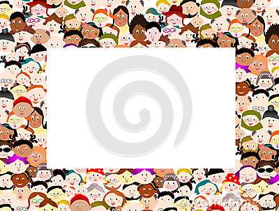 People clipart border clipart free download Diverse Border Rows Symbol People Hold Hands Royalty Free Stock ... clipart free download