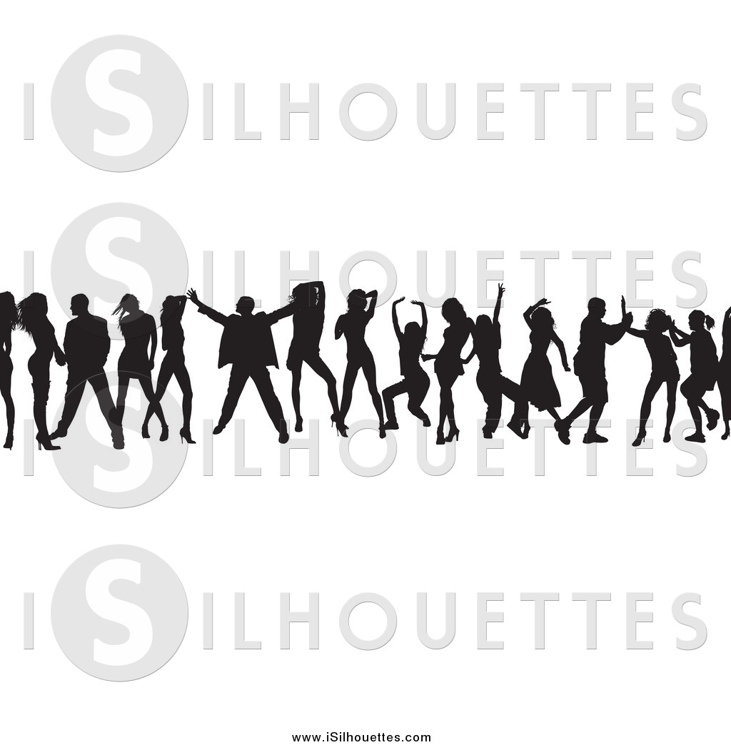 People clipart border transparent stock Royalty Free Border Stock Silhouette Designs transparent stock