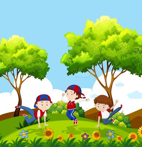 People dancing in the forest around fire clipart picture stock kids dancing in park - Download Free Vectors, Clipart ... picture stock