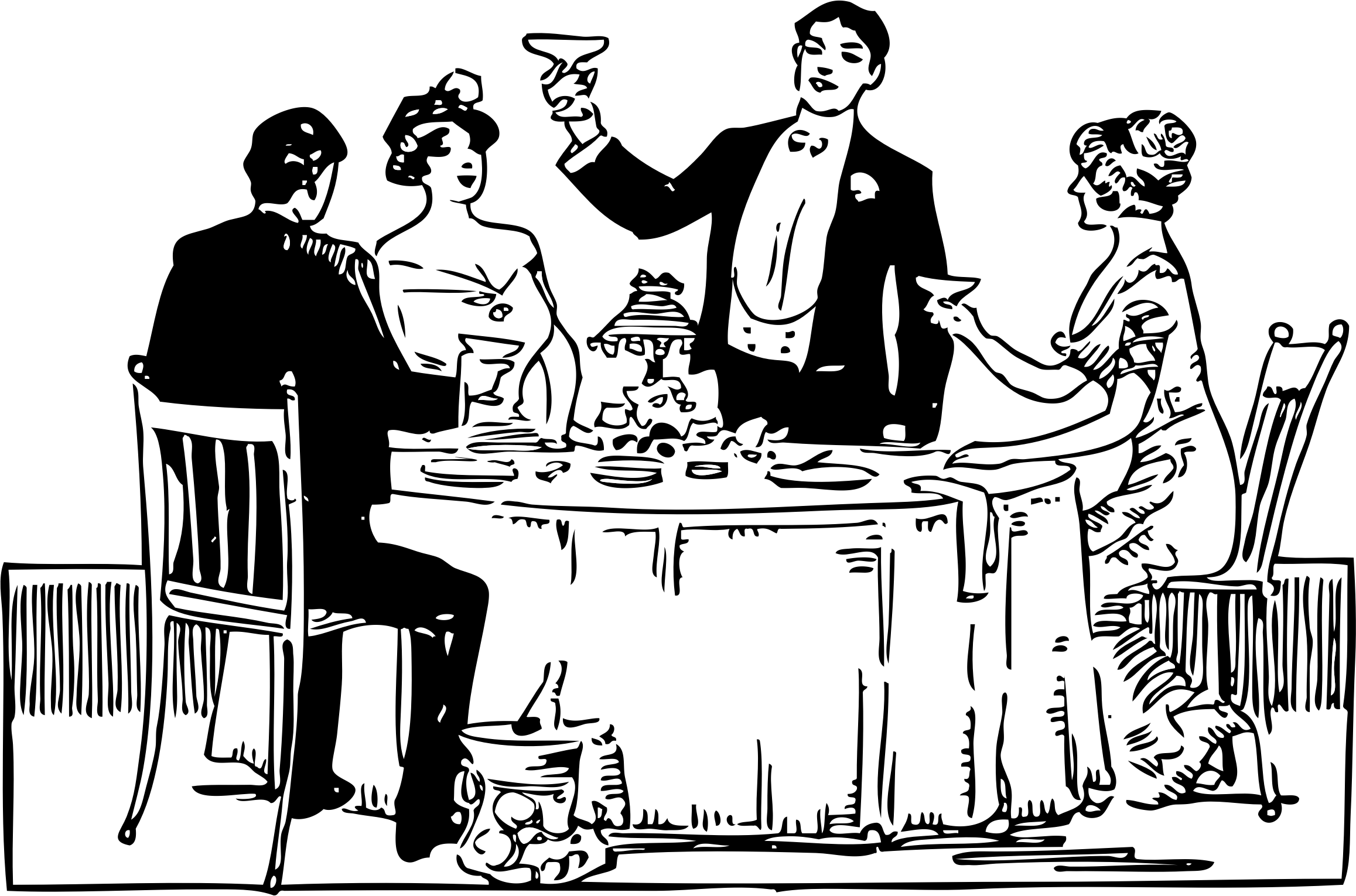 People eating clipart black and white transparent banner free download Group of people eating clip art clipart images gallery for ... banner free download