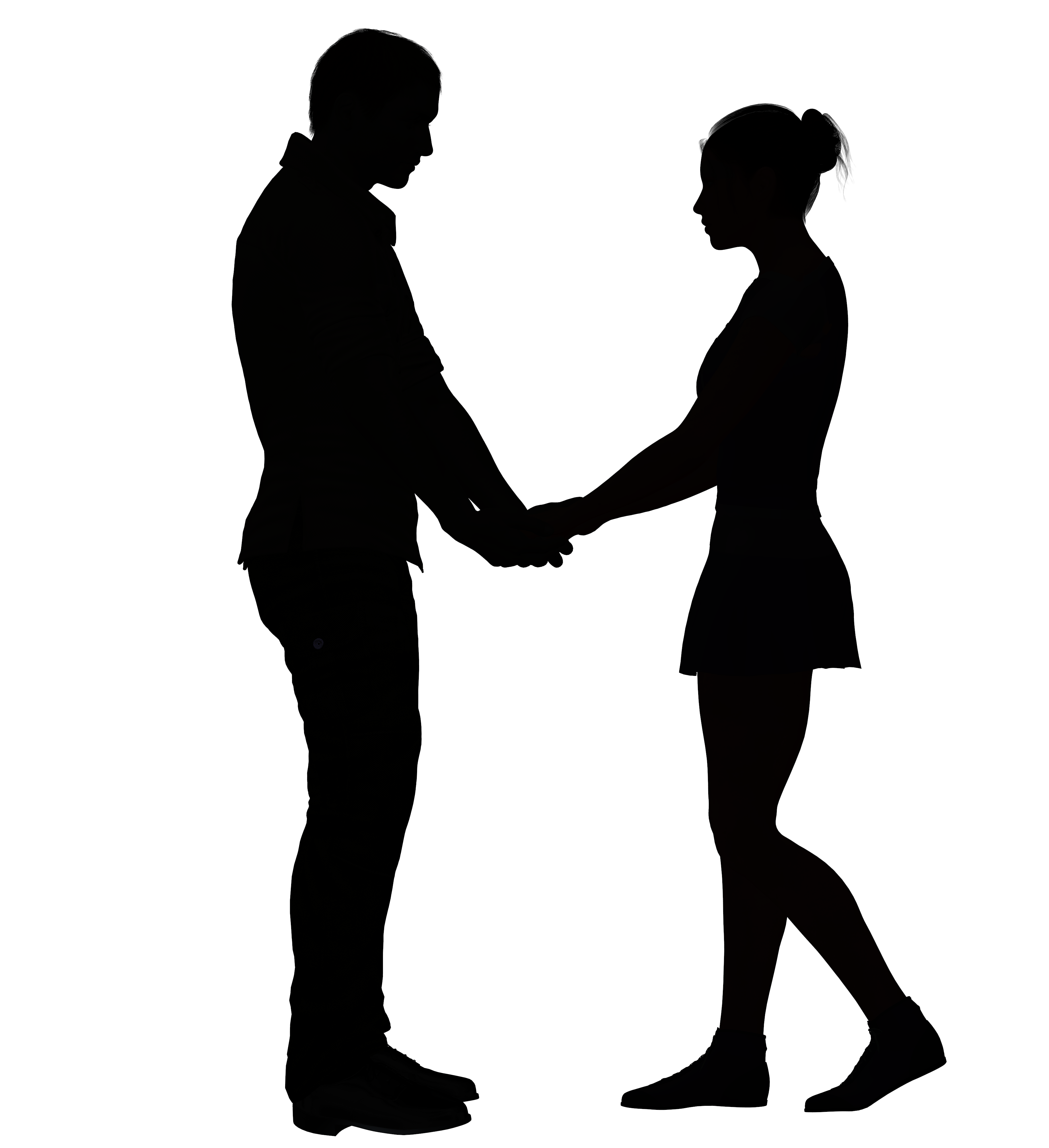 People in a heart holding hands clipart free download Silhouette Love Clip art - broken heart png download - 3657 ... free download
