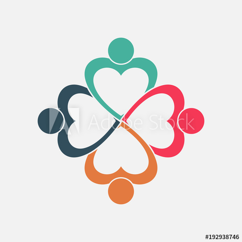 People in a heart holding hands clipart png freeuse download Four people heart in a circle holding hands.The summit ... png freeuse download