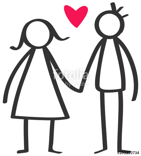 People in a heart holding hands clipart svg freeuse library Simple stick figures happy couple, man, woman holding hands ... svg freeuse library