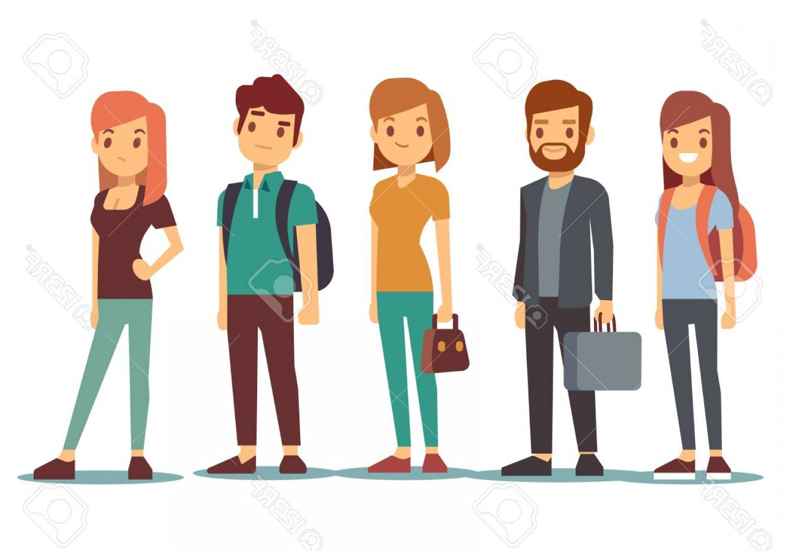 Line of people clipart graphic library library People waiting in line clipart 9 » Clipart Portal graphic library library