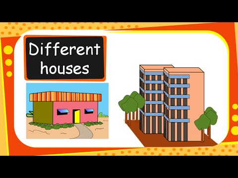 Types of houses clipart picture library Science - Different Types of Houses and Building Materials - English picture library