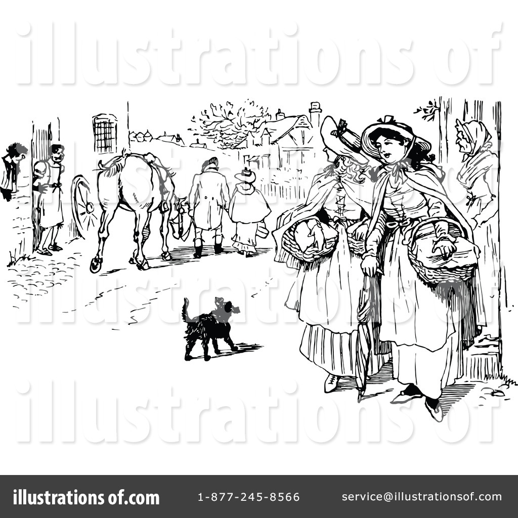 People in villege clipart black and white png library stock Village Clipart #1154914 - Illustration by Prawny Vintage png library stock
