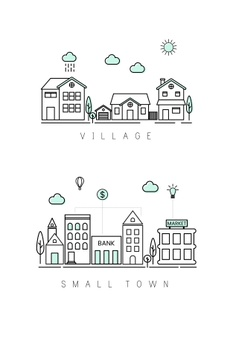 People in villege clipart black and white png black and white stock Village Vectors, Photos and PSD files | Free Download png black and white stock