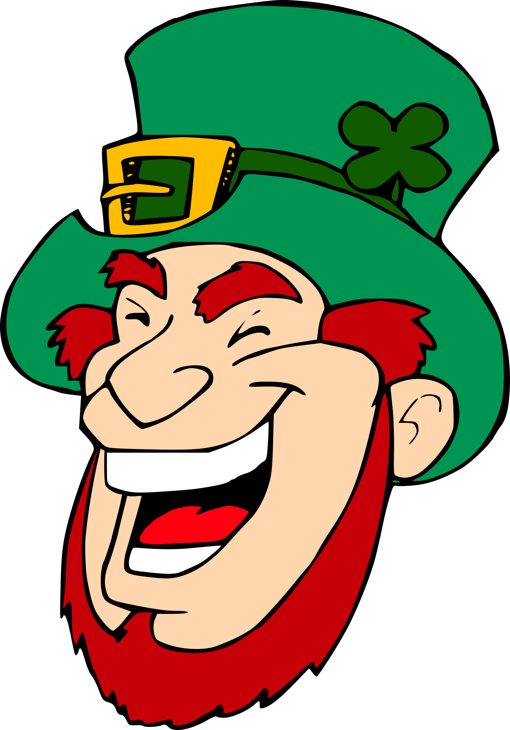 Person laughing clipart banner library stock Clipart - Laughing Leprechaun 1 banner library stock