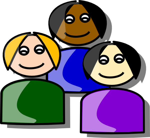 Group of people working together clipart money freeuse Girls Cartoon Clip Art at Clker.com - vector clip art online ... freeuse