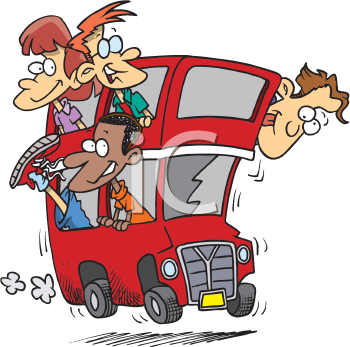 People on the bus clipart picture freeuse iCLIPART - Royalty Free Clipart Image of People on a Double ... picture freeuse