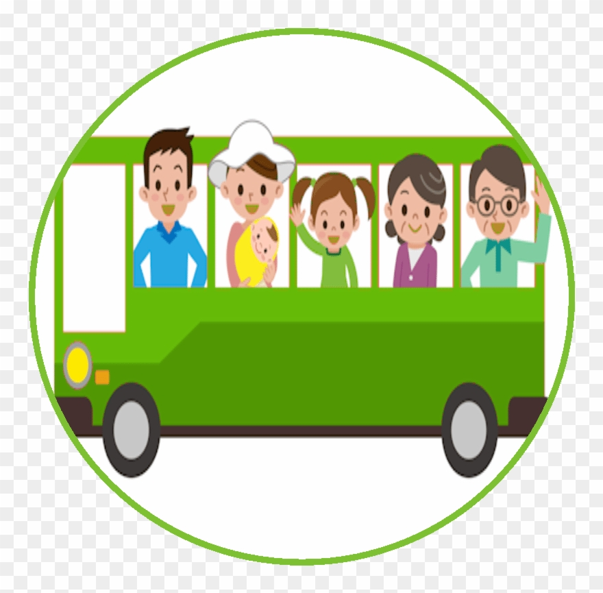 People on the bus clipart jpg royalty free Bus Travel People Green Clipart (#3727357) - PinClipart jpg royalty free