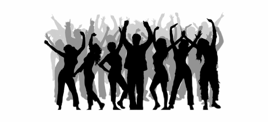 People party clipart banner royalty free download crowd #silhouettecrowd #silhouette #party #dancing ... banner royalty free download