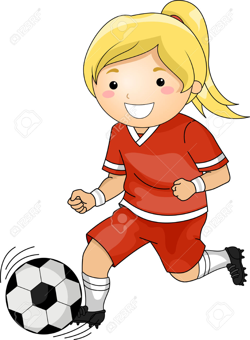 People playing soccer clipart svg free library Girl Playing Soccer Clipart   Free download best Girl ... svg free library