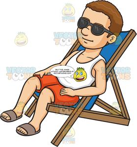 People relaxing clipart graphic transparent stock A Man Relaxing On A Lounger graphic transparent stock