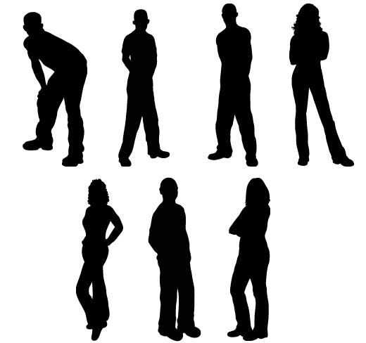People silhouettes clipart image royalty free stock People Animation in PowerPoint | Reference | Clipart gallery ... image royalty free stock