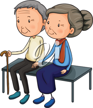 Older people clipart svg royalty free stock iCLIPART - Clip Art Illustration of Older People Sitting on ... svg royalty free stock
