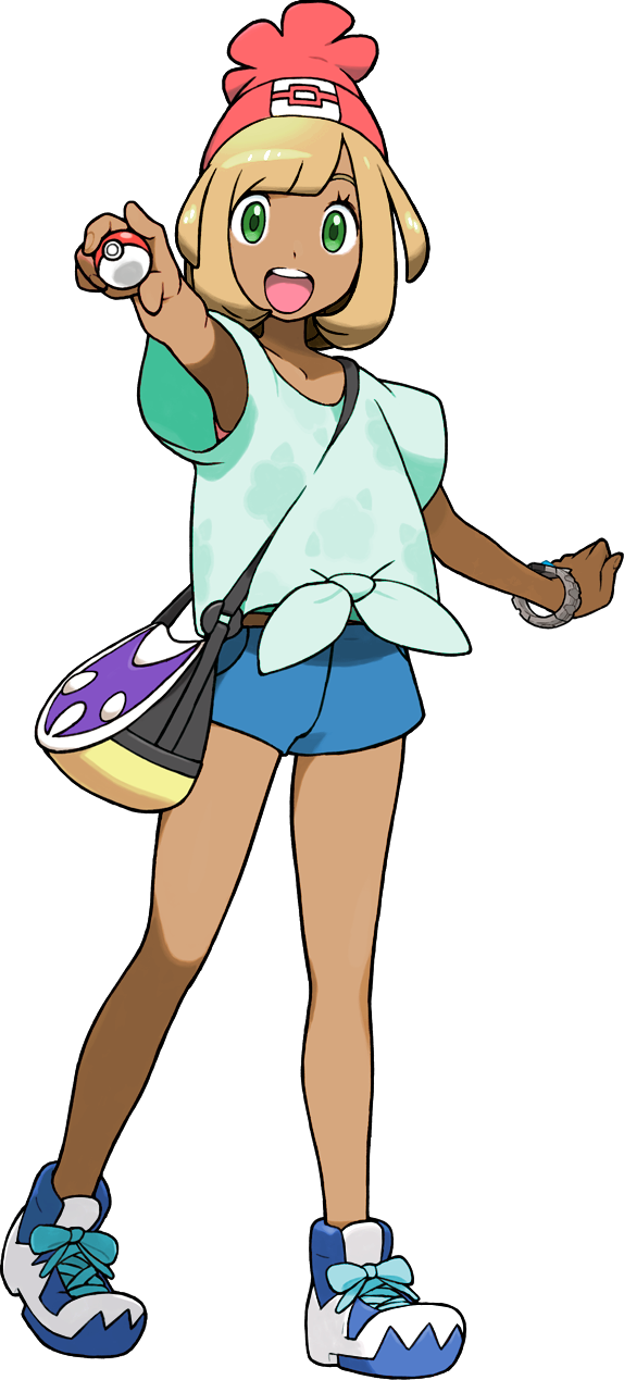 People tired with sun clipart clipart free Custom Female Pokemon Trainer (Sun and Moon)   dark skin anime girl ... clipart free