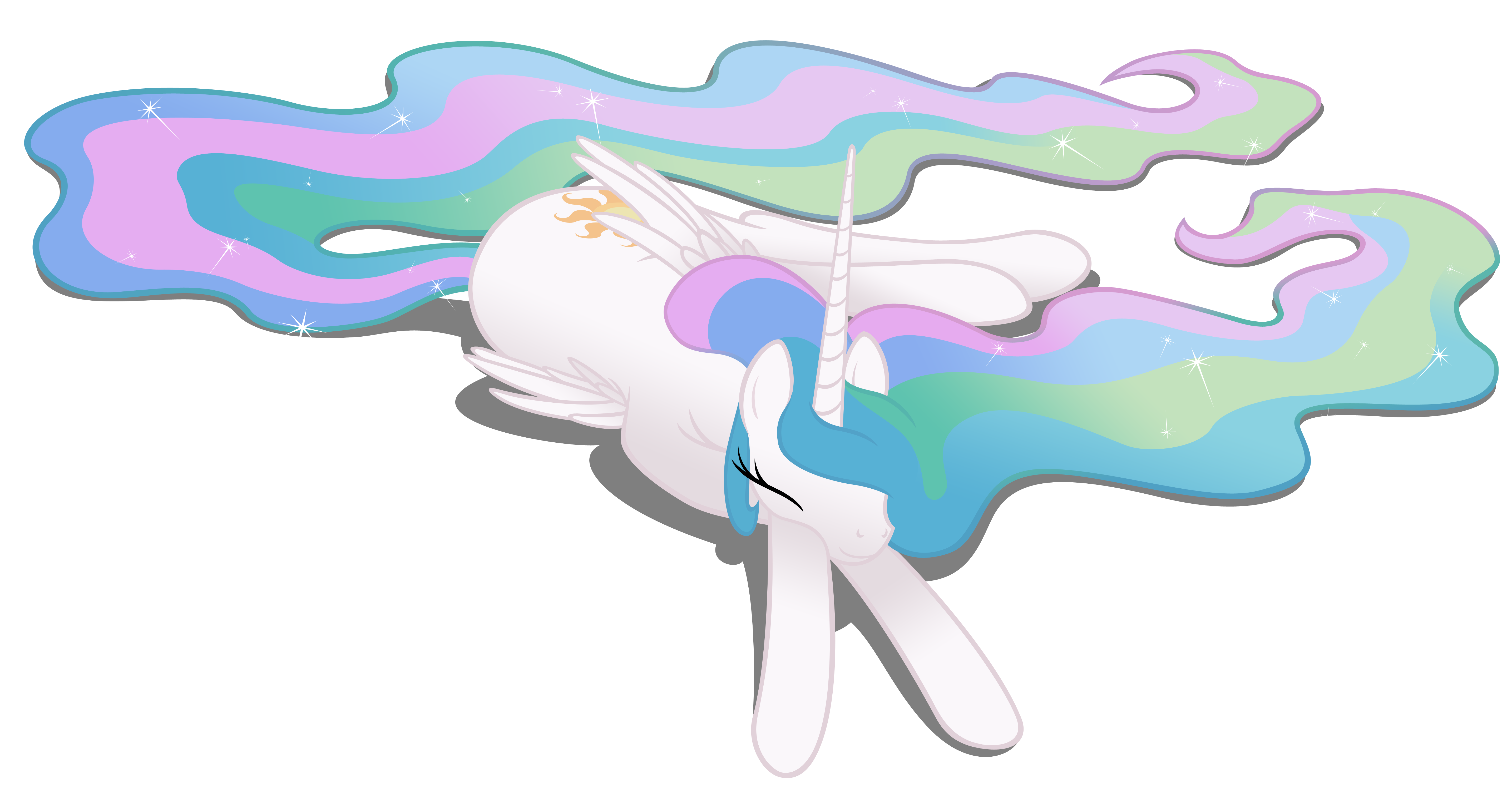 People tired with sun clipart png library download Celestia Sleeps In with a Vengeance - Fimfiction png library download