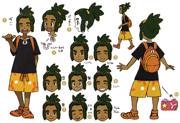 People tired with sun clipart picture free download Hau concept art   Pokémon Sun and Moon   Know Your Meme picture free download