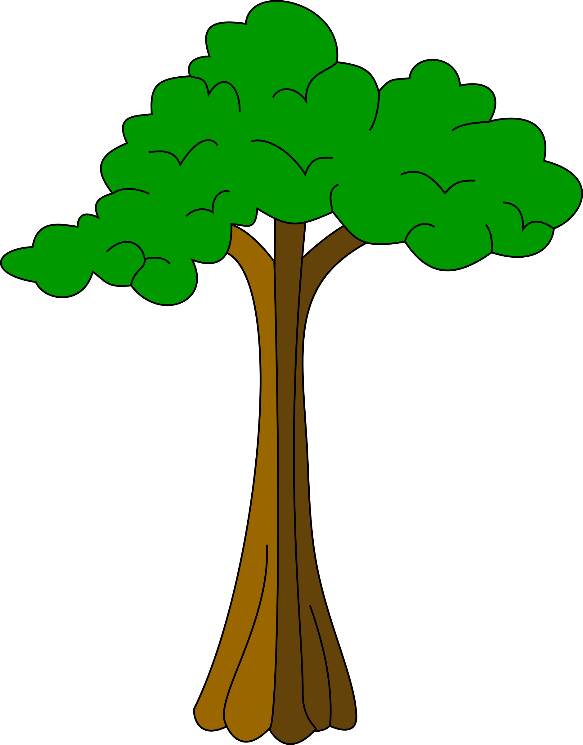 People tree clipart image free download Clipart - Silk cotton tree image free download