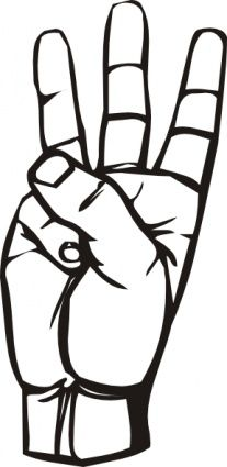 People using sign language clipart svg free library Sign Language Letter R Coloring Page | D's and T's and R's ... svg free library