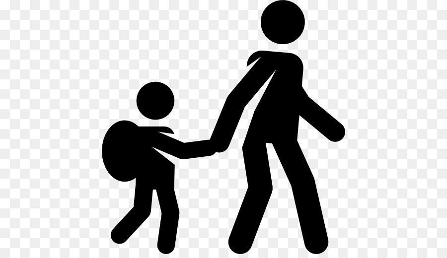 People walking in line holding hands clipart picture royalty free School Black And White png download - 512*512 - Free ... picture royalty free