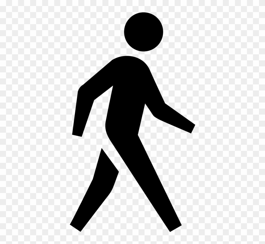 Clipart of people walking svg black and white Walk - People Walking Icon Png Clipart (#673564) - PinClipart svg black and white