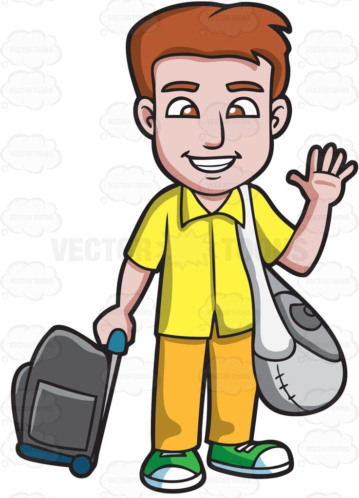 People waving goodbye clipart clip transparent library A man waving goodbye before he leaves : A man with brown ... clip transparent library