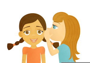People whispering clipart image freeuse download Clipart Child Whispering | Free Images at Clker.com - vector ... image freeuse download