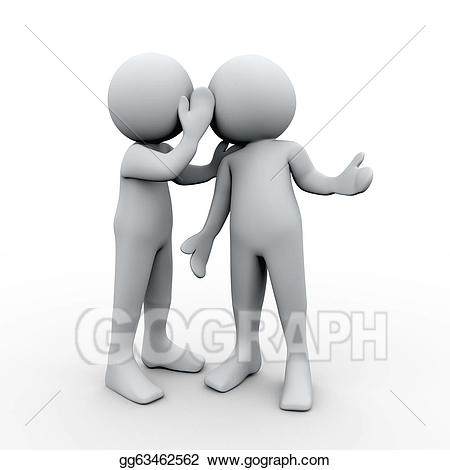 People whispering clipart graphic black and white download Drawing - 3d person secret whispering. Clipart Drawing ... graphic black and white download