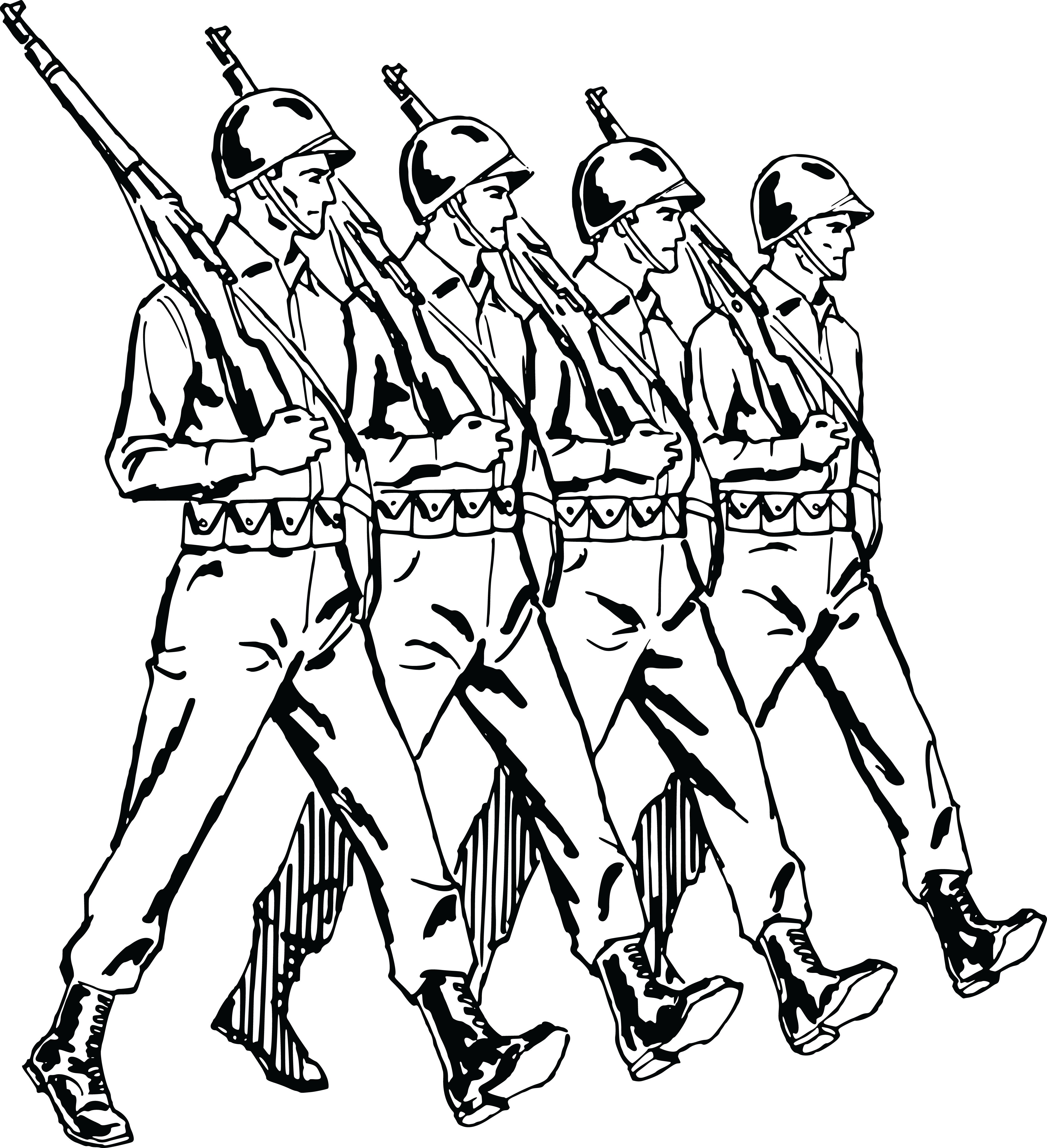 People with no money clipart black and white clip library Soldier clipart black and white ~ Frames ~ Illustrations ~ HD images ... clip library
