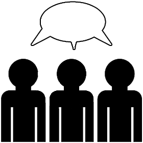 Peopletalking clipart clipart black and white library Clipart of people talking free – Gclipart.com clipart black and white library
