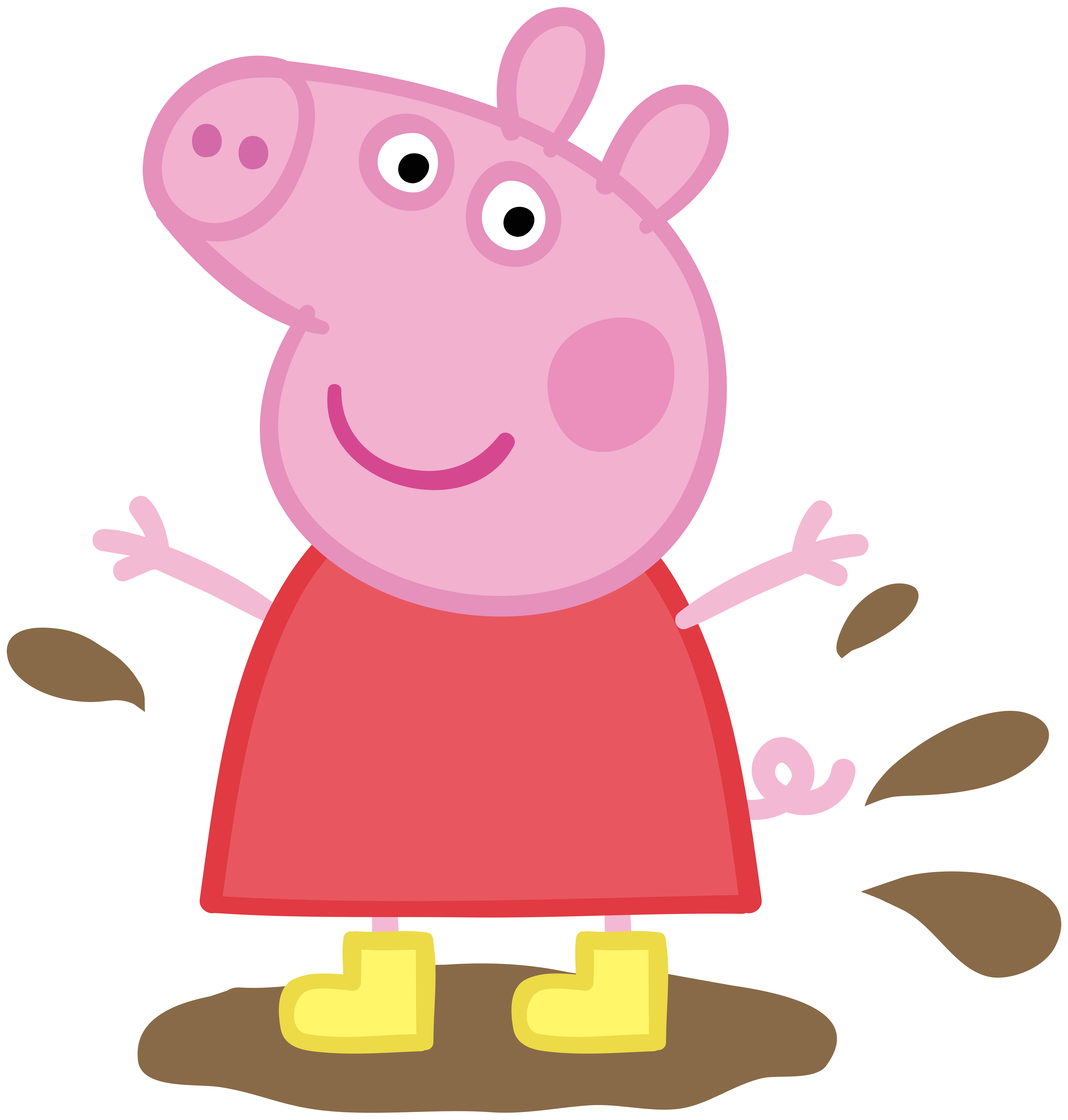 Pepa clipart graphic royalty free stock Peppa Pig in Muddy Puddle Transparent PNG Image | Gallery ... graphic royalty free stock