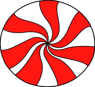 Peppermint swirl clipart