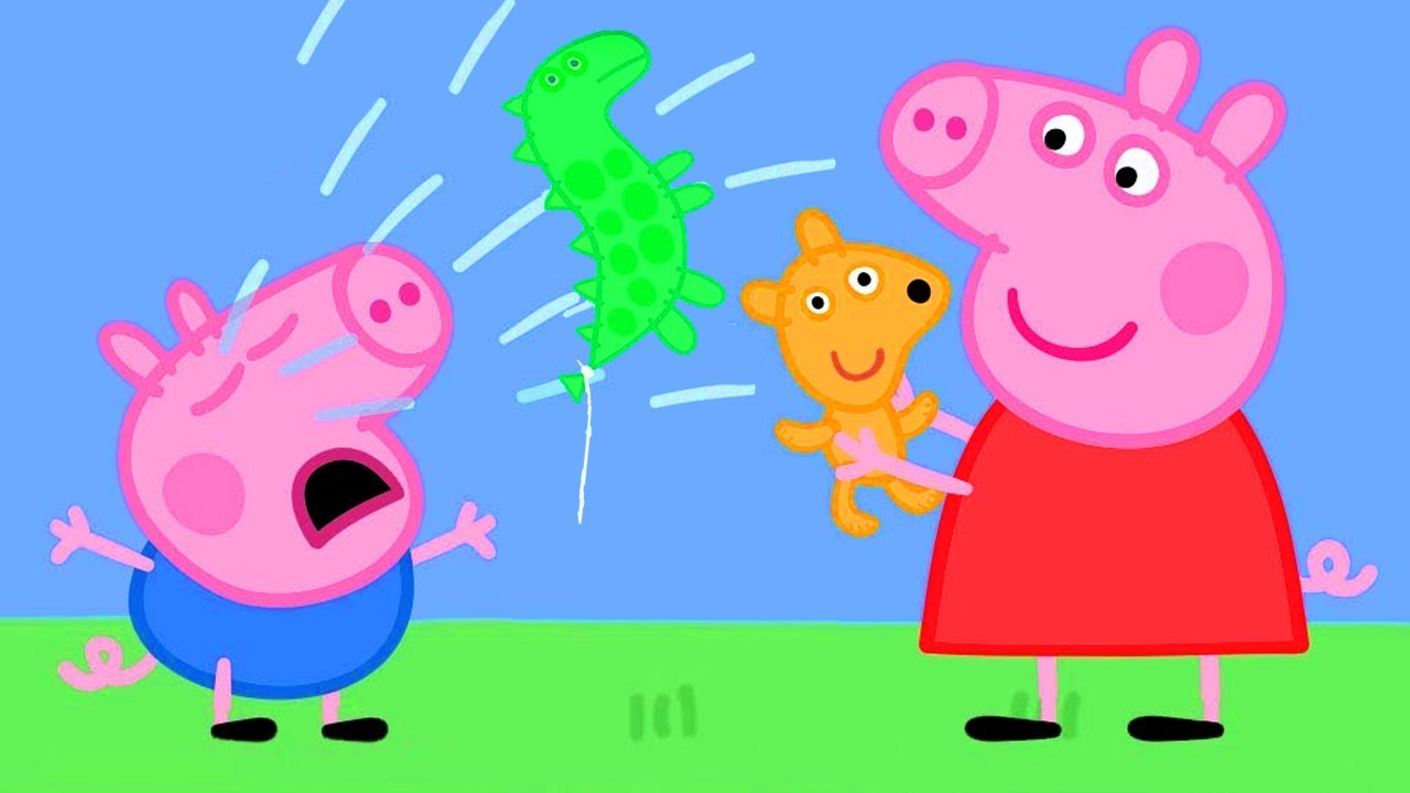 Peppa pig going potty clipart clip art free Peppa Pig Official Channel | Peppa Pig Saves George\'s New Balloon clip art free