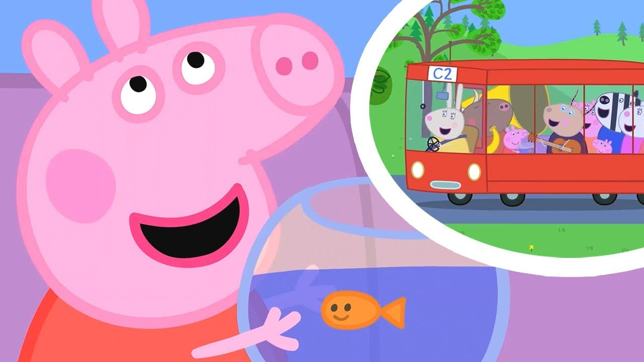 Peppa pig going potty clipart svg download Peppa Pig Official Channel | Peppa Pig\'s the Wheels on the Bus Song  Compilation! svg download