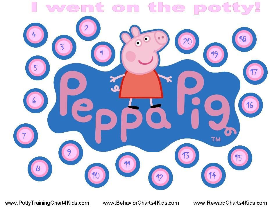 Peppa pig going potty clipart image library download Peppa Pig Potty Training Chart for Ashley | Daycare | Potty training ... image library download