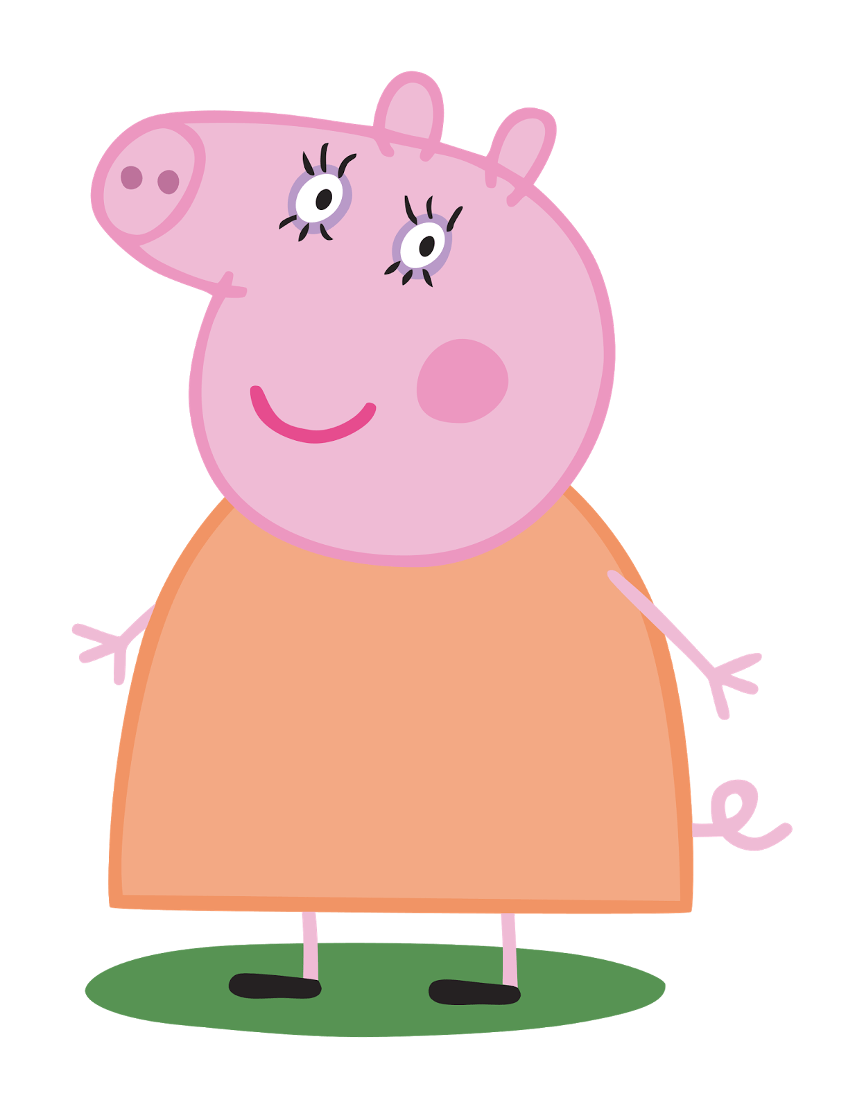 Peppa pig house clipart black and white library Mummy Pig transparent PNG - StickPNG black and white library