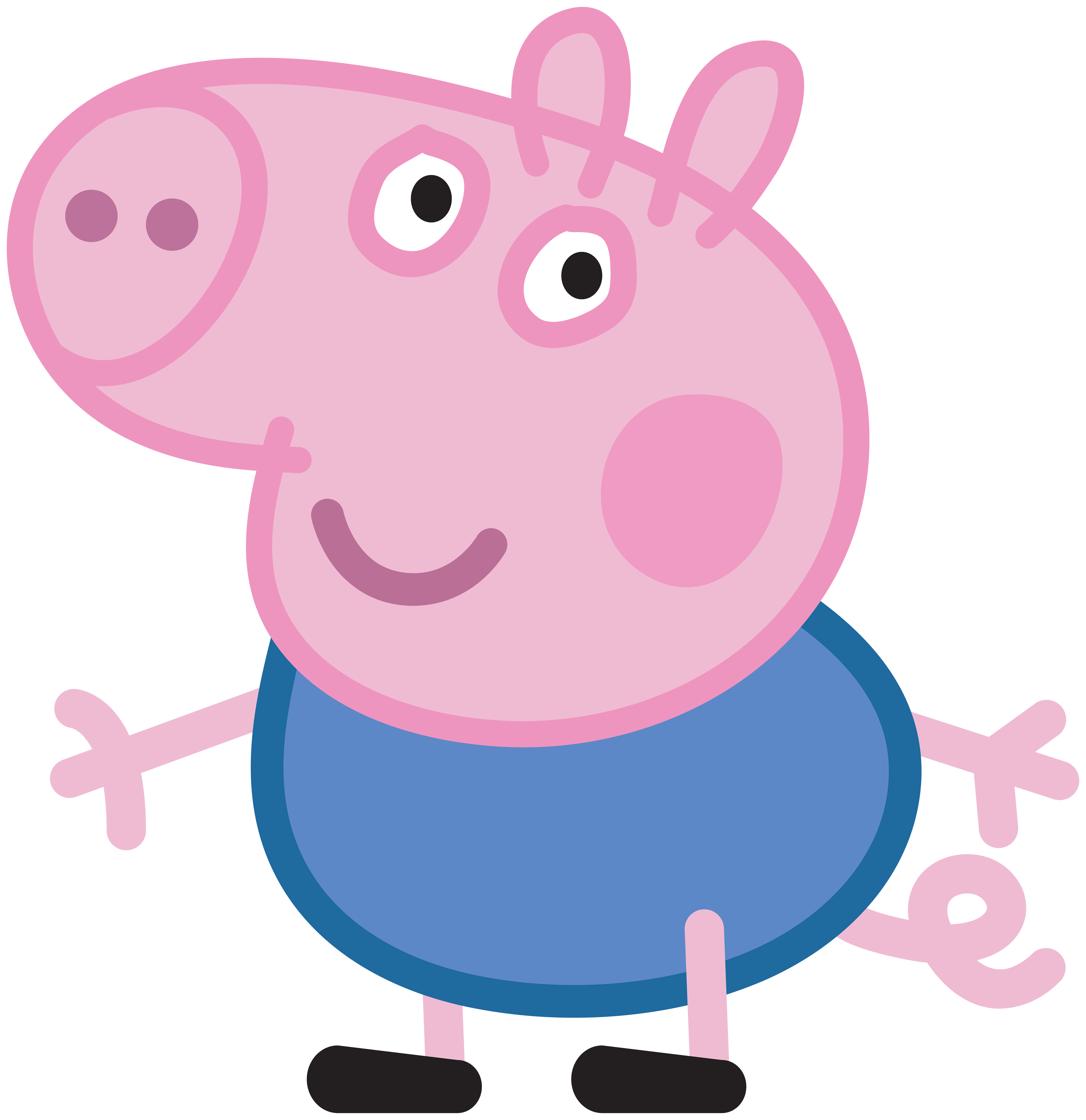 Peppa pig house clipart svg library library George_Peppa_Pig_Transparent_PNG_Image.png (7755×8000) | Party Peppa ... svg library library